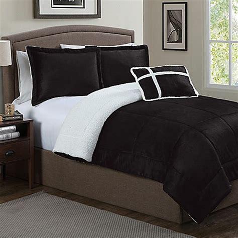 sherpa comforter twin micro sherpa comforter set bed bath beyond