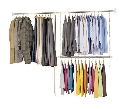 Wardrobe Clothes Hanging Rail by Wardrobe Clothes Garment Organiser Closet Extendable