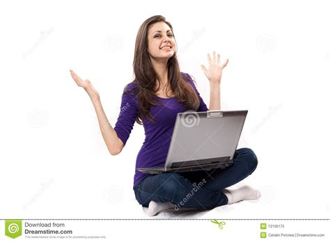 south american using laptop stock photos south american using laptop stock images alamy brunette using laptop royalty free stock photo image 13106175