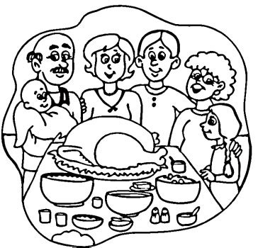 family dinner coloring page happy thanksgiving turkey coloring pages clipart panda