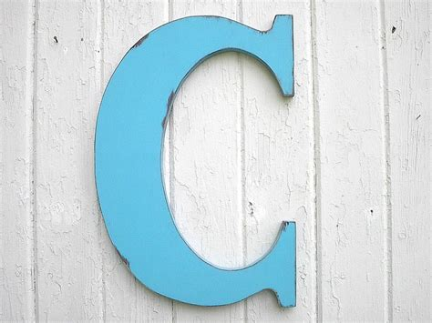 Wooden Letters Home Decor by Wooden Letters Bimini Blue Letter C Monogram Initial Kids Wall