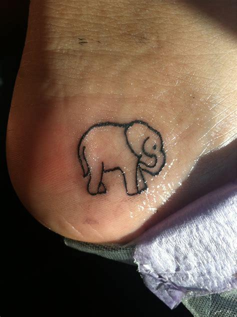 elephant tattoo on heel elephant tattoo ah exactly where i want mine