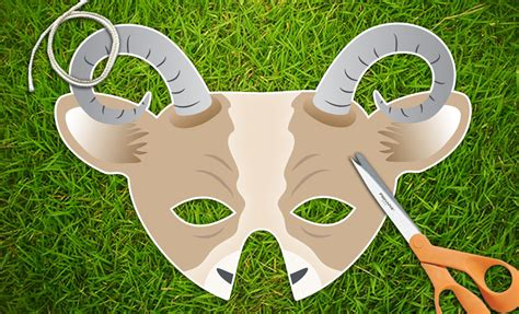 goat masks for new year goat or mask 2015 new year mask