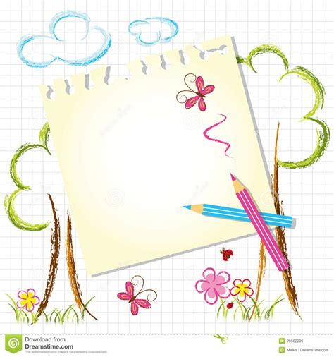free pencil sketch up doodle theme colorful color pencil drawing background stock vector