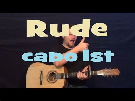 tutorial guitar rude rude magic easy guitar lesson how to play tutorial