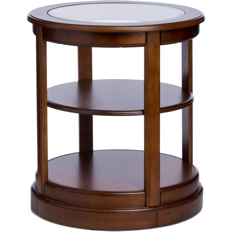round glass top accent table round wood end table with glass top end table