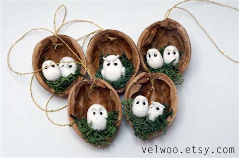 owl ornament set rustic decorations animal