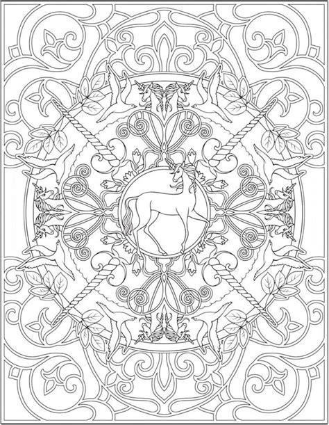 "Creative Haven ""Unicorns"" Coloring Book | Free Printable"