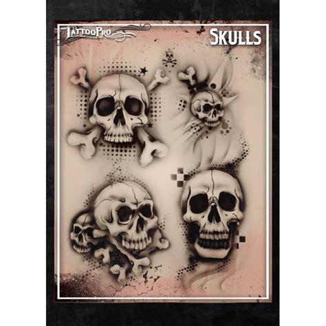 airbrush tattoo pro stencil skulls