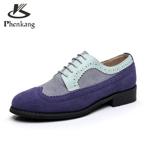 Flat Shoes Blue S30102 1 genuine leather flat shoes bullock toe handmade 11 vintage blue 2017 sping oxford