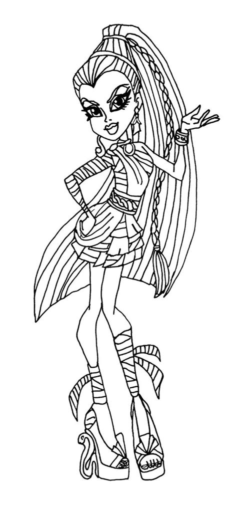 chibi monster high coloring pages download and print for free chibi monster high coloring pages download and print for free