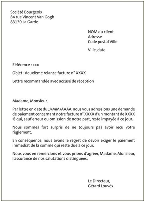 Lettre De Motivation De Relance Lettre Mise En Demeure Obligation Contractuelle Document