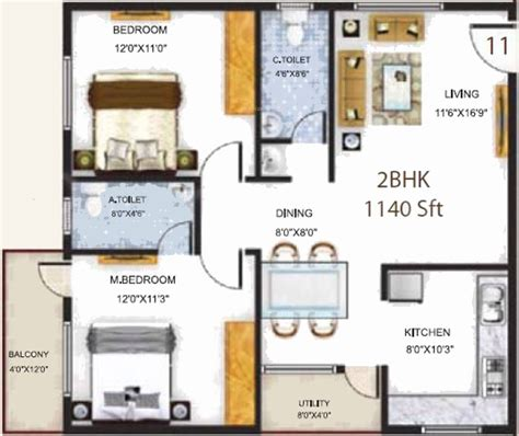 serenity floor plan 1140 sq ft 2 bhk 2t apartment for sale in baldota group serenity hosa road bangalore