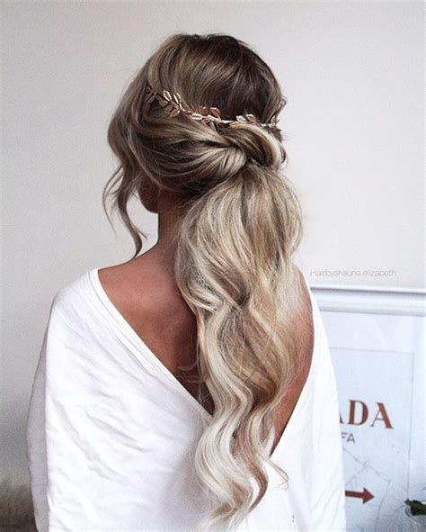 Wedding Hairstyles For Ponytails by Low Ponytail Hairstyles For Weddings Hair