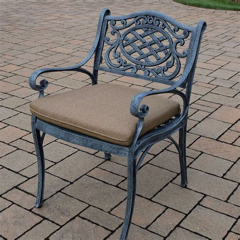 Cast Aluminum Patio Table And Chairs Oakland Living Mississippi 5pc Cast Aluminum Patio Dining