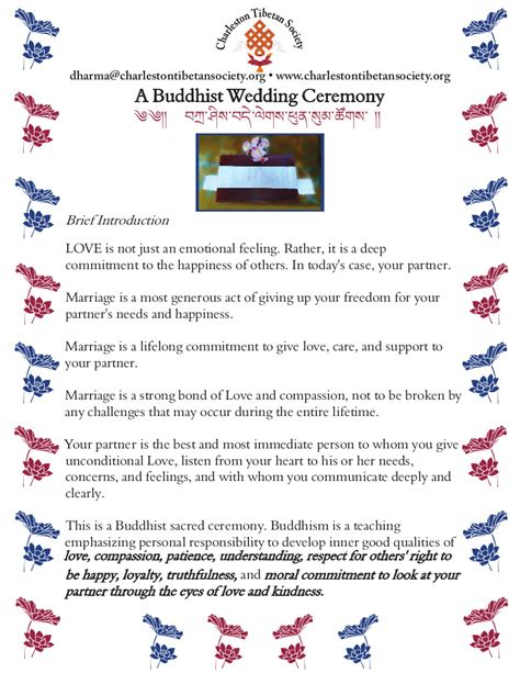 Wedding Vows Prayers by Vows And Prayers For A Buddhist Wedding Ceremony