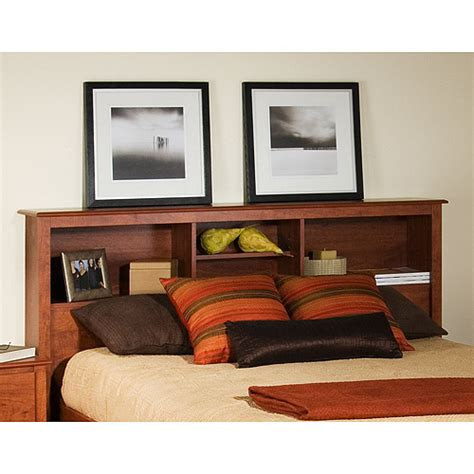 full storage headboard edenvale full queen storage headboard cherry walmart com