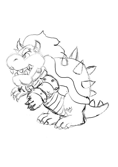 dry bowser free coloring pages