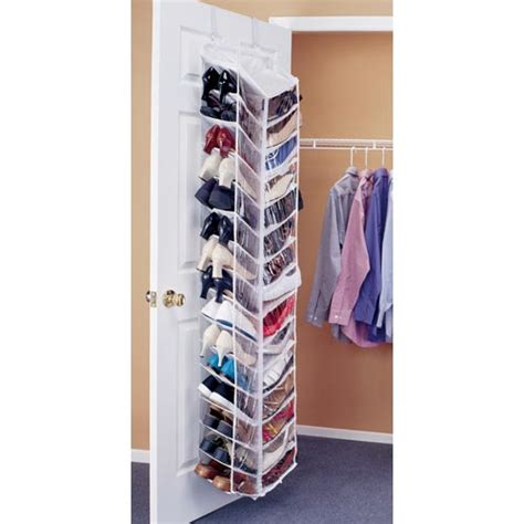 closet door shoe organizer shoe away 30 pocket organizer in the door shoe racks