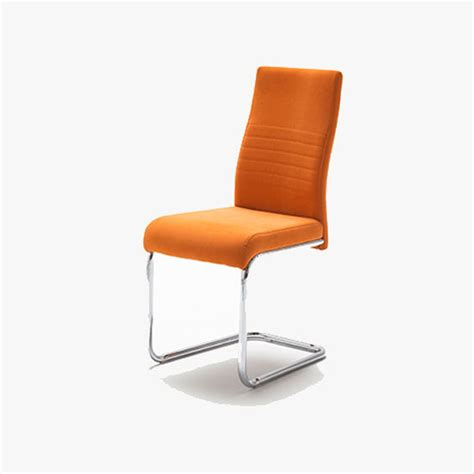 orange dining chairs jonas metal swinging orange dining chair 21898 furniture in