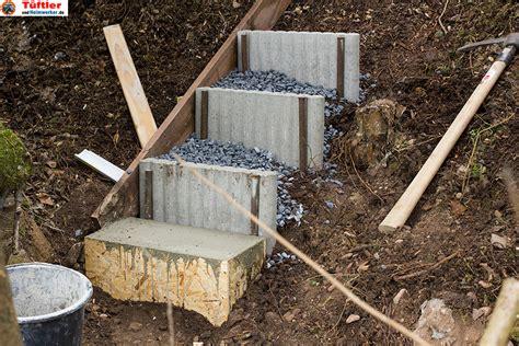garten treppenstufen setzen au 223 entreppen und gartentreppen selber bauen diytueftler