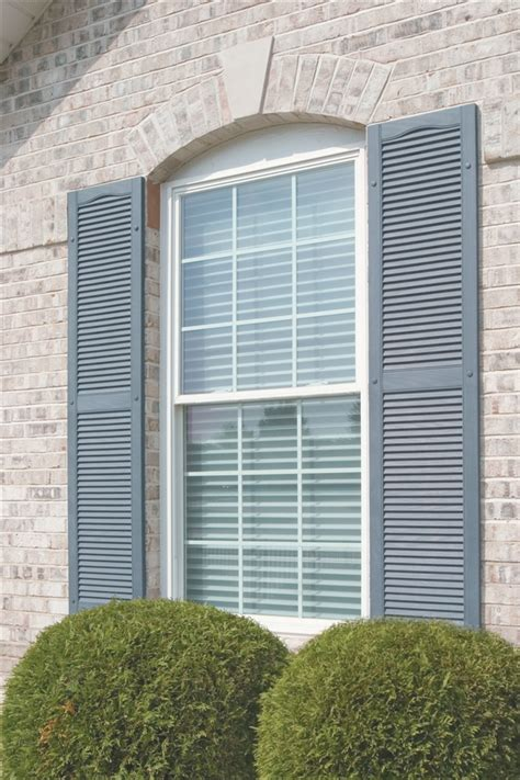 mid america exterior vinyl shutters cathedral open louver