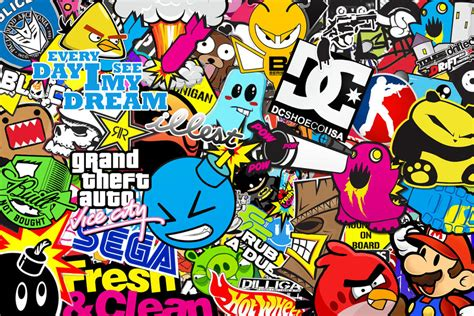 hoonigan sticker bomb sticker bomb wallpaper hd wallpapersafari