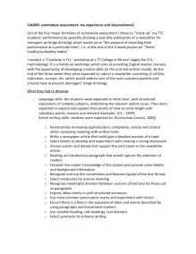 Summative Essay by Summative Assessment An Exle