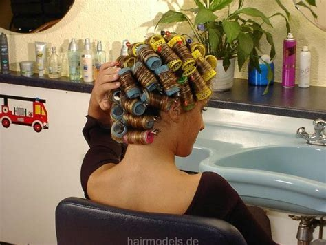 video man having hair set in curlers 114 best images about wet set with rollers on pinterest