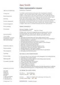 sle of resume sales representative resume template
