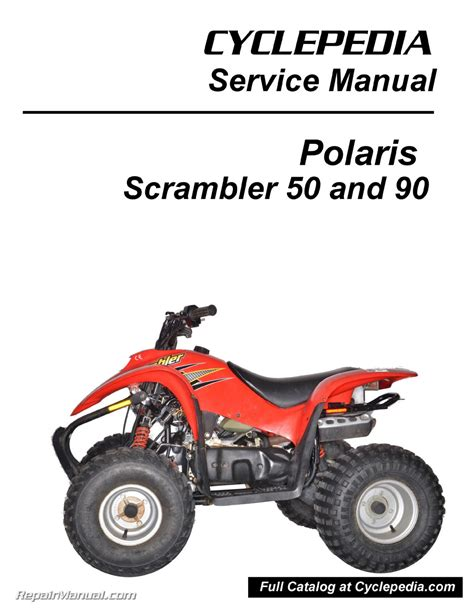 honda 90cc atv polaris 50cc 90cc scrambler atv print service manual by