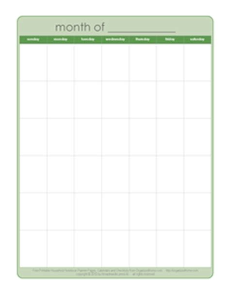 printable undated calendar template free printable undated monthly calendar calendar