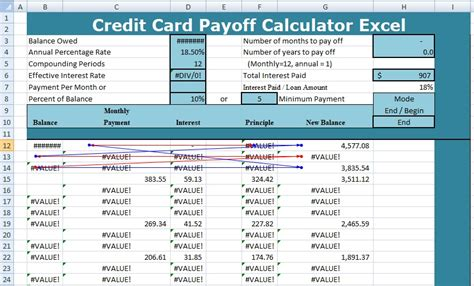 credit card templates excel invoices xlstemplates