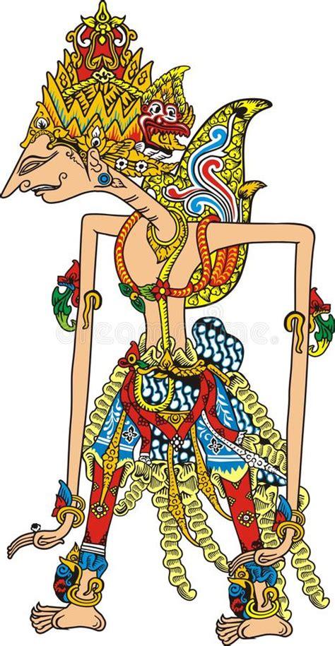 Topeng Vector javanese puppet stock vector image of wayang