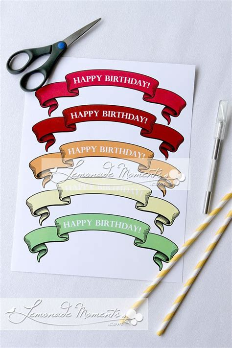 printable birthday banner cake topper 17 best images about free printables parties circles