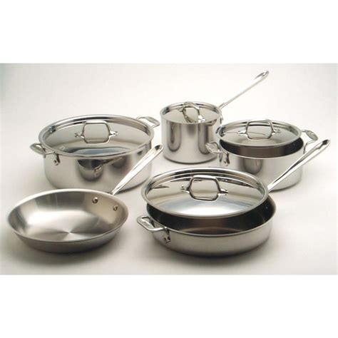 all clad electric induction burner stainless steel 10 cookware set