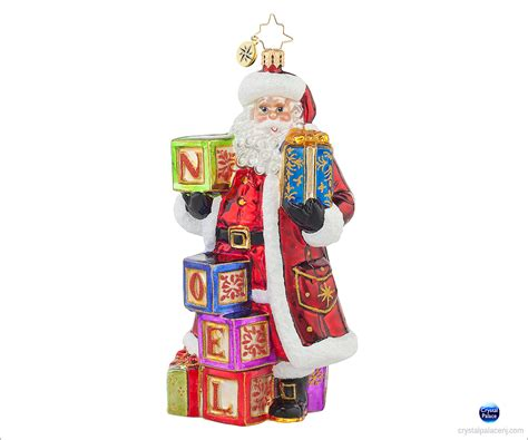 1017618 christopher radko simply noel christmas ornament