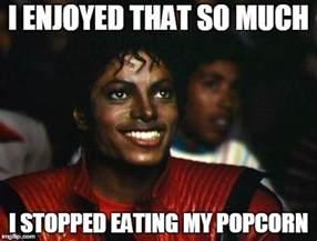 Michael Jackson Eating Popcorn Meme - michael jackson imgflip
