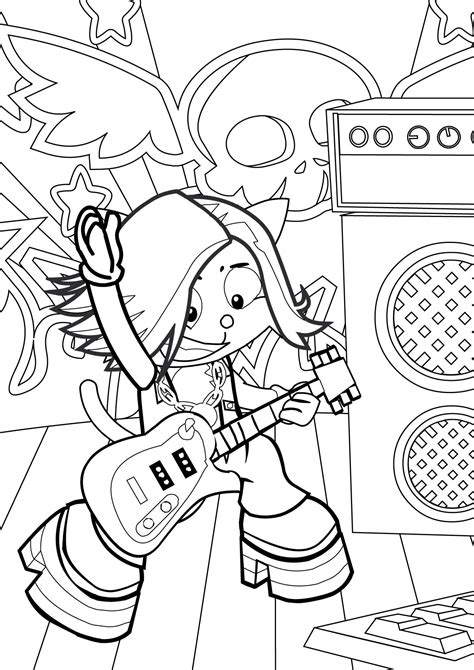 coloring page of a rock star rock star coloring pages