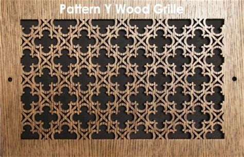 pattern cut wood grilles ventilation grates wood vent covers patterncut