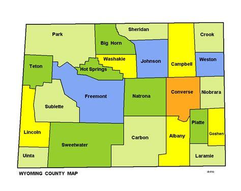 map of wyoming usa map of wyoming map counties worldofmaps net