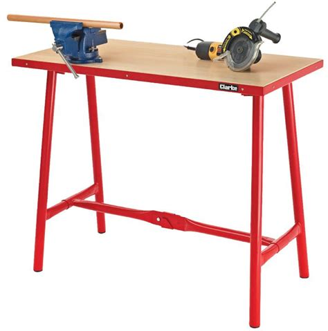 folding tool bench cwb10f workbench heavy duty folding clarke international