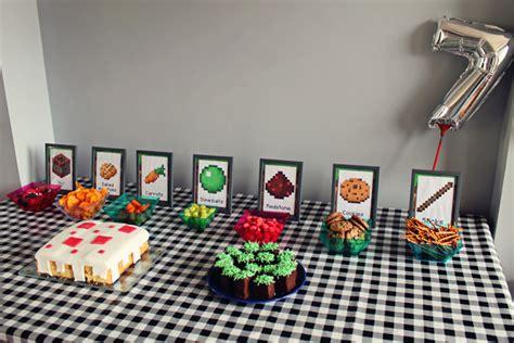 minecraft tafel mizflurry minecraft feestje deel 3 verjaardag thuis