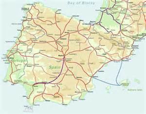 Map Spain by Road Map Spain Images