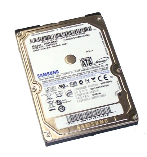 Hardisk External Hdd Samsung 160gb Kabel Data samsung hm160hi 160gb 5 4k 2 5 quot spinpoint sata disk