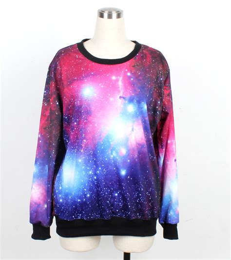 galaxy pattern t shirt galaxy sweater jumper cosmic light sweatshirt t shirt long
