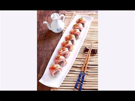 youtube membuat sushi cara membuat sushi salmon aburi crispy maki by sakura