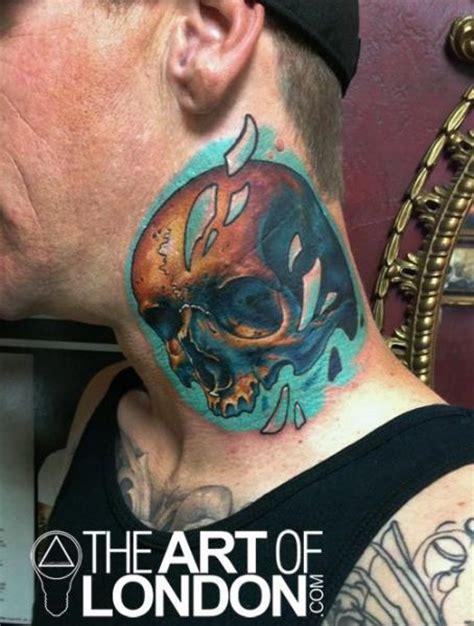 tattoo school london nice skull neck tattoo by the art of london best tattoo