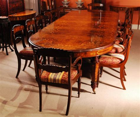 victorian marquetry walnut dining table   chairs