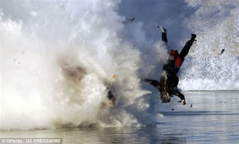 bad boat crashes drag boat racer escapes with a broken leg as his power